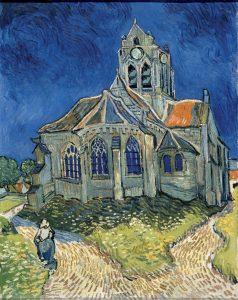 Vincent van Gogh L'église d'Auvers-sur-Oise, vue du chevet Juin 1890 Huile sur toile H. 94 ; L. 74 cm © RMN-Grand Palais (Musée d'Orsay) / Hervé Lewandowski