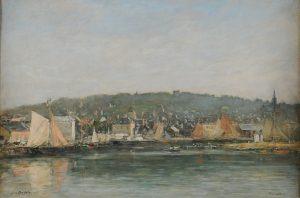 Eugène Boudin, Le Port de Trouville le matin, hst, Musée des Beaux-arts de Reims c. Devleeschauwer