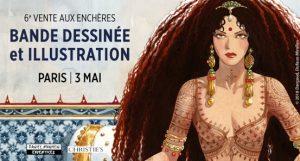 MIRALLES | DJINN | Détail du lot 7 — La Sultane de la Perle noire, couverture originale de l'intégrale à paraître pour les tomes 12 et 13 ©2018 Dargaud, Dufaux-Miralles