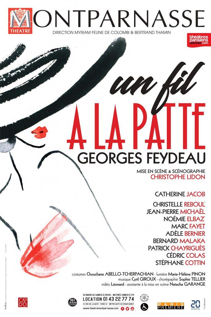 La désopilante Catherine Jacob sauve avec ses partenaires Le fil à la patte du Théâtre Montparnasse.