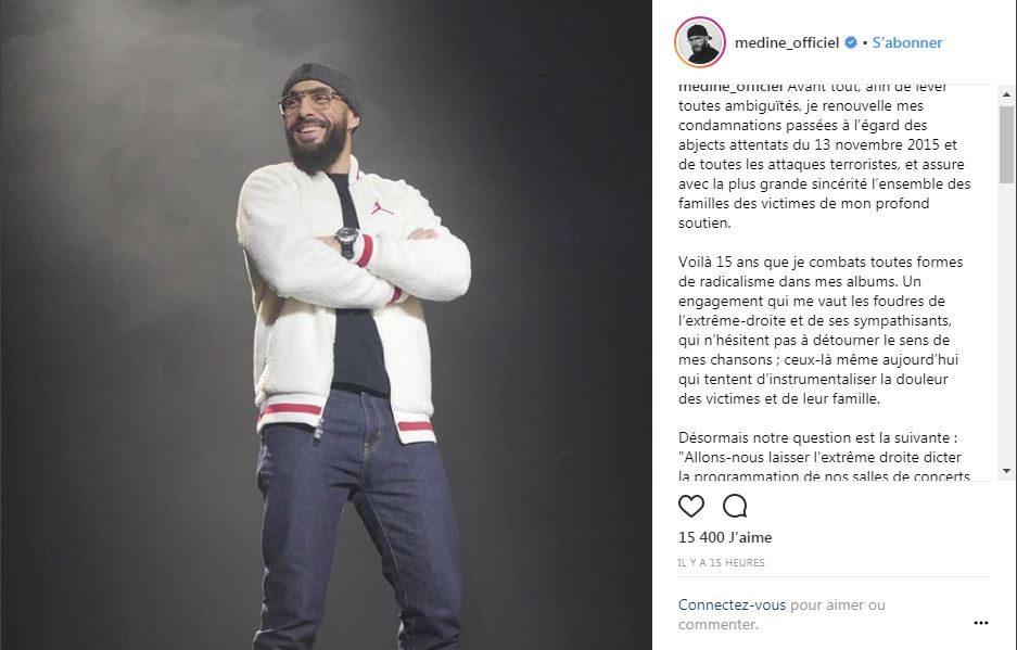 Rap : Médine privé de Bataclan ?