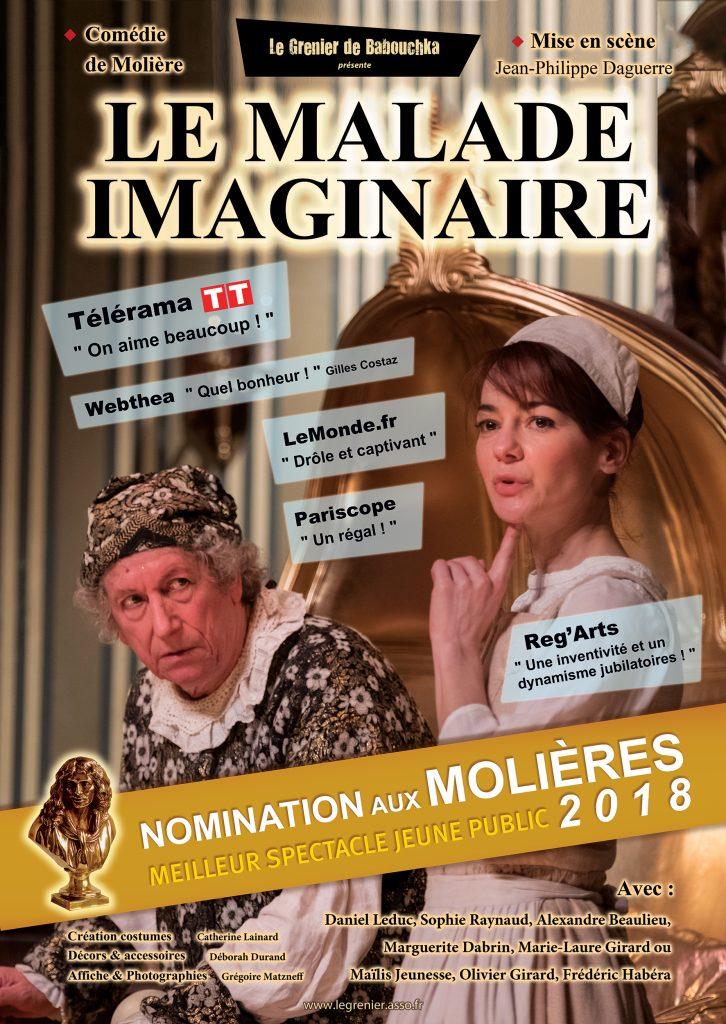 Avignon Off : Le grenier de Babouchka donne au « malade imaginaire » de Molière une seconde jeunesse