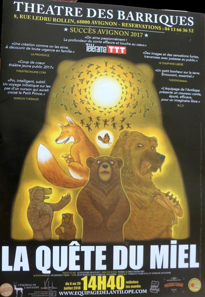 Avignon Off : « La quête du miel », un conte familial qui met tous nos sens en éveil