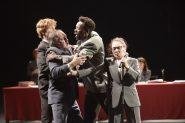 """2015 juin Theatre des Amandiers""""Ça Ira /1 Fin de Louis"""" un spectacle écrit et mis en scène par Joël PommeratDécor et lumière: Eric Soyer"""
