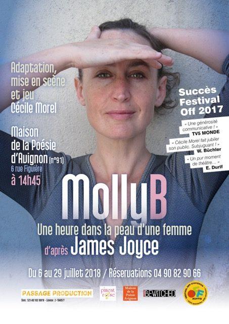 AVIGNON OFF : «Molly B» de James Joyce, un bijou littéraire à découvrir à la Maison de la Poésie.