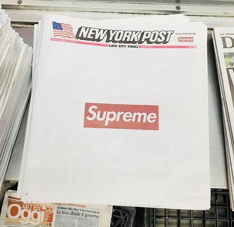Collection FW18 : Supreme en Une du New York post !