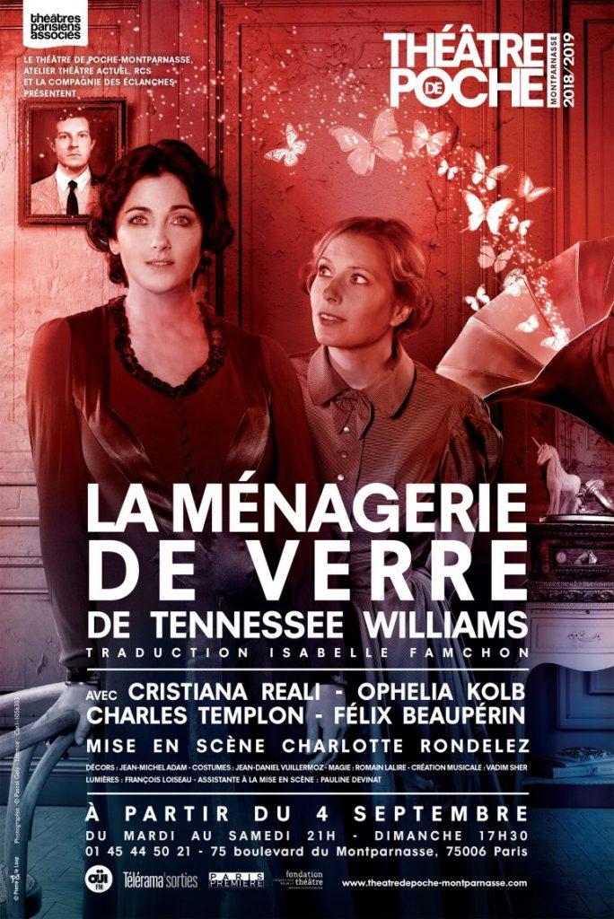 Un surprenant «La Ménagerie de Verre» mis en Scène par Charlotte Rondelez au Poche Montparnasse