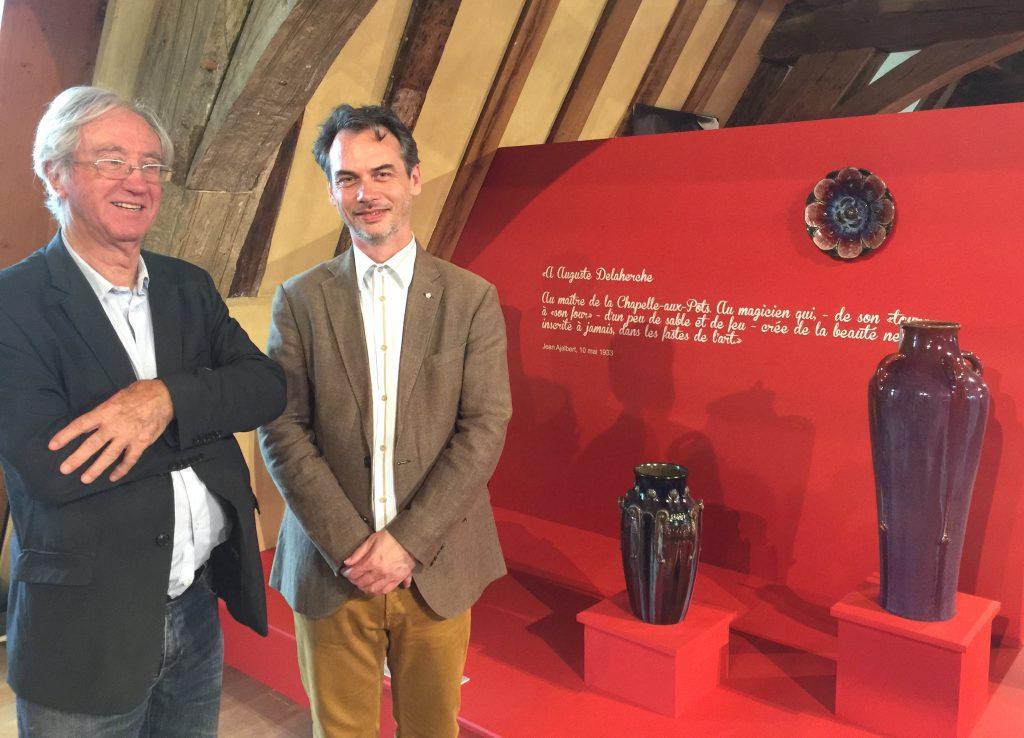 Rencontre avec Jean Cartier et Sylvain Pinta,  commissaires scientifiques de Trésors céramiques au MUDO-Musée de l'Oise