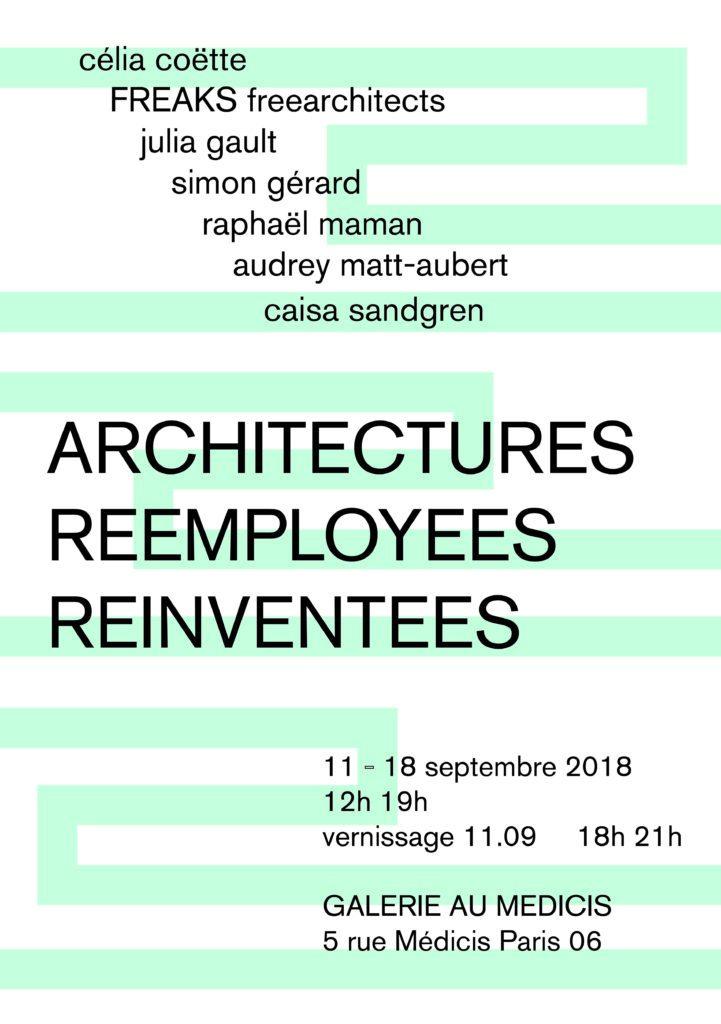 «Architectures réemployées réinventées» à la galerie Au Médicis : Le fond fait forme