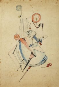 Ella Bergmann-Michel, Untitled, 1917 Encre, aquarelle et or sur papier vélin 71 x 50,4 cm