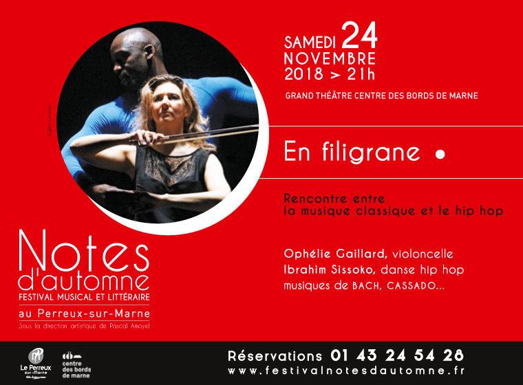 Gagnez 4×2 places pour le spectacle «En filigrane» – Festival Notes d'Automne