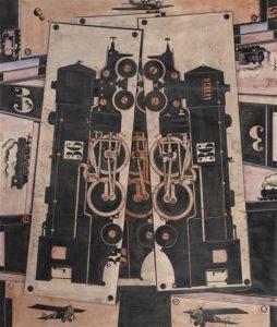 Robert Michel, Lok (Höhenflug), 1923 Encres et aquarelle sur papier vélin fin 67 x 56,4 cm