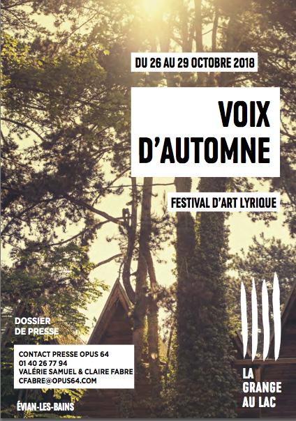 Philippe Bernhard, directeur artistique de «Voix d'automnes» :  «La Grange au Lac cesse d'être la salle des seules Rencontres Musicales d'Evian pour assumer son propre destin» [Interview]