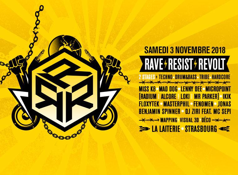 Gagnez 2×2 places pour la soirée Rave Resist Revolt à Strasbourg