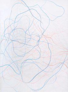 Gilgian Gelzer, Sans titre, Crayon de couleur sur papier, 140 x 110 cm, 2015
