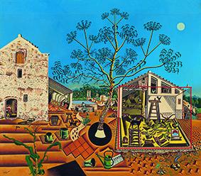 La Ferme 1921-1922 huile sur toile ; 123,8 x 141,3 cm États-Unis, Washington National Gallery of Art don de Mary Hemingway, 1987 © Successió Miró / Adagp, Paris 2018 Photo National Gallery of Art, Washington