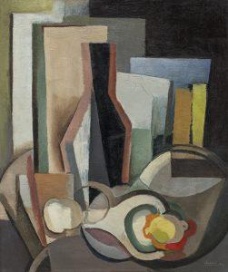 Youla Chapoval Sans titre (Nature morte à la bouteille), 1947 Huile sur toile 55 x 46 cm Courtesy Jeanne Bucher Jaeger, Paris © J.-L. Losi