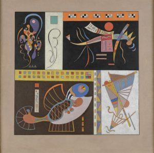 Vassily Kandinsky?Communauté, 1942? Huile sur carton ?50 x 50 cm Courtesy Jeanne Bucher Jaeger, Paris? © J.-L. Losi
