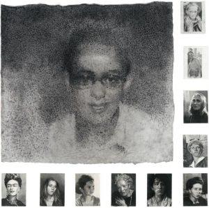 Jérôme Zonder, Portrait de Garance #23, Fusain, mine de plomb sur papier, 150 x 200 cm, 2017.