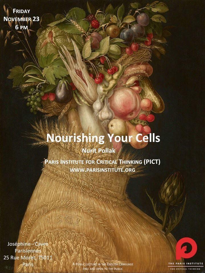 Conférence : «Nourrir vos cellules» par Nurit Pollak aux Caves Joséphine le 23/11/2018