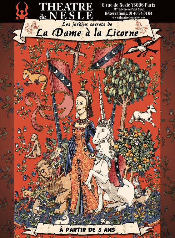 Gagnez 3×2 places pour le spectacle «Les jardins secrets de la dame à la licorne»