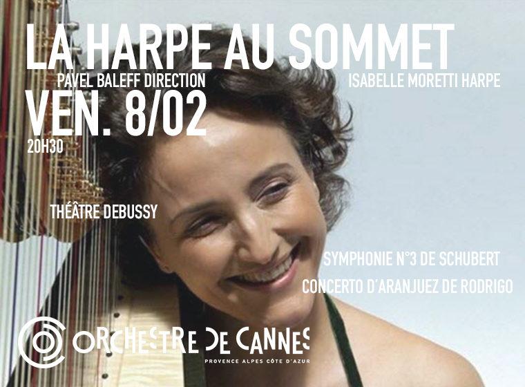 Gagnez 5×2 places pour le concert La Harpe au Sommet d'Isabelle MORETTI à Cannes