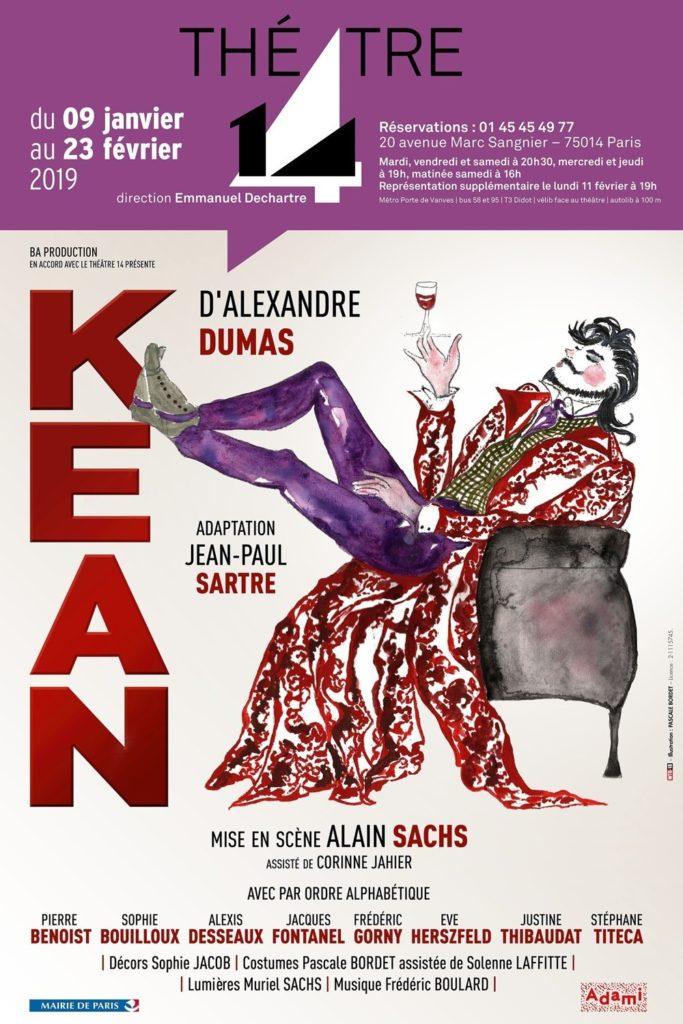 Kean mise en scène par Alain Sachs au Théâtre 14