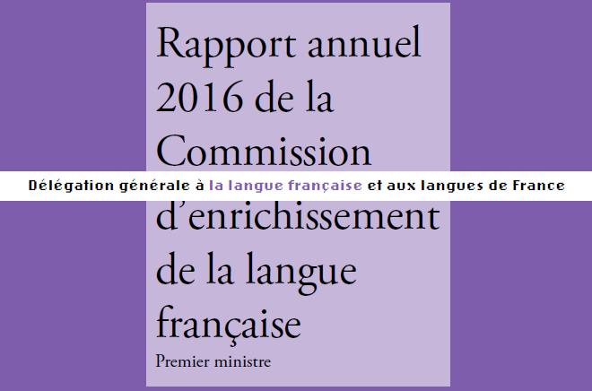 Quelle langue pour demain ? Réflexions sur la Commission d'enrichissement de la langue française