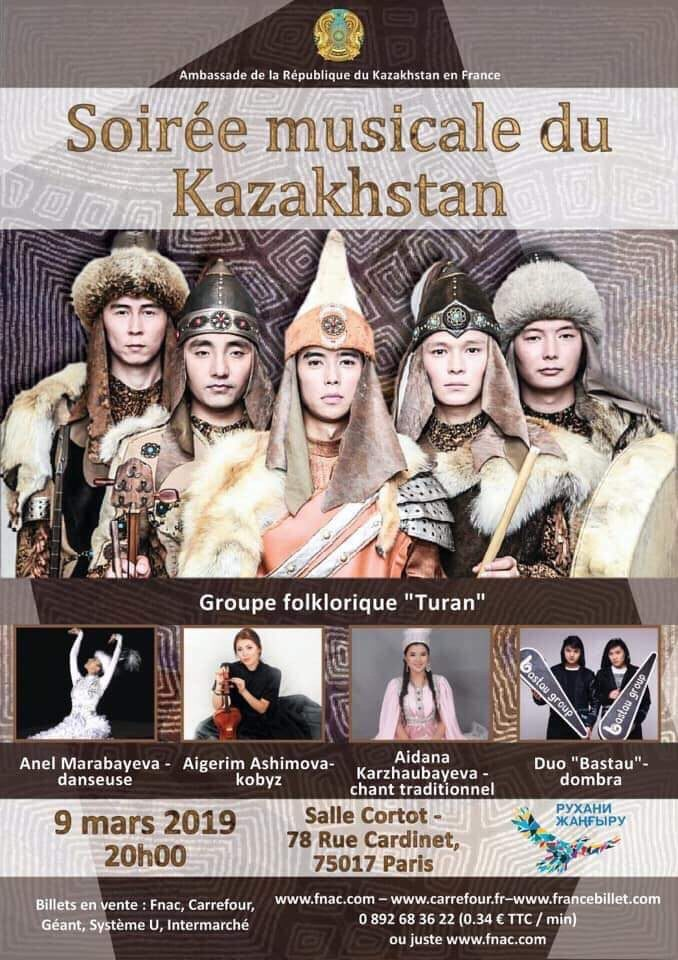 Une soirée de musiques kazakhs à la Salle Cortot