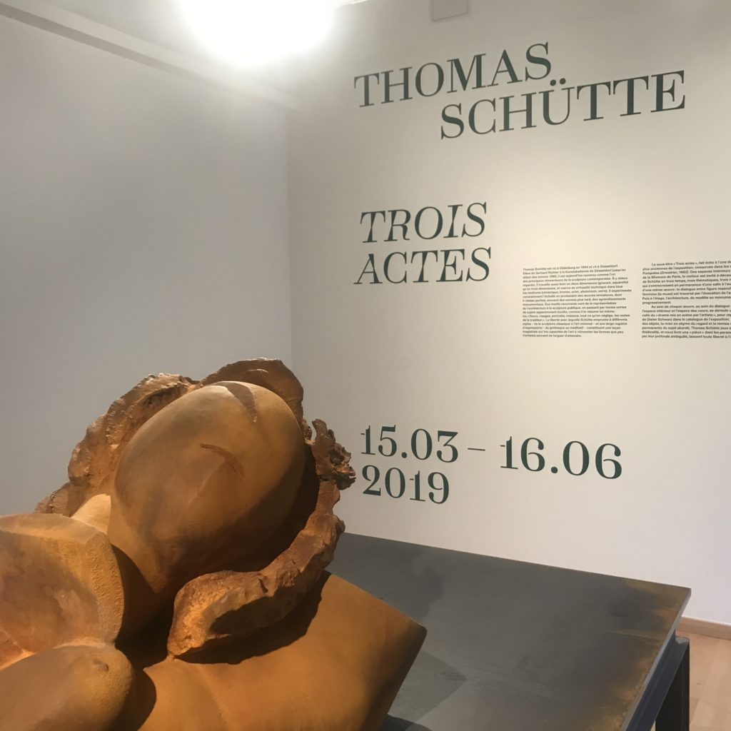 Trois actes de Thomas Schutte à la Monnaie de Paris