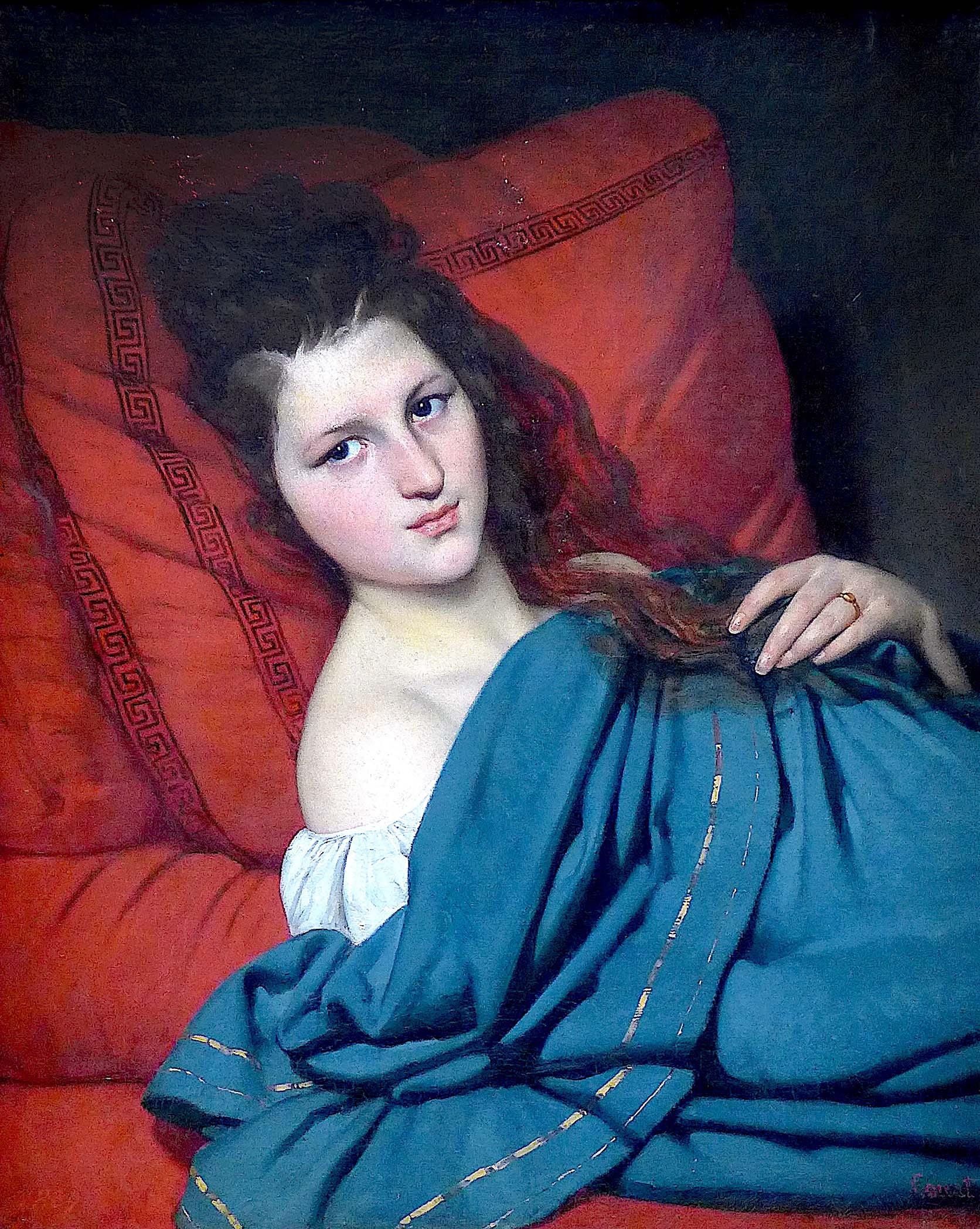 Petit Palais | Paris romantique 1815-1848 | La nouvelle Athènes | Femme à mi-corps couchée sur un divan (1829), Joseph-Désiré Court (1792-1865)