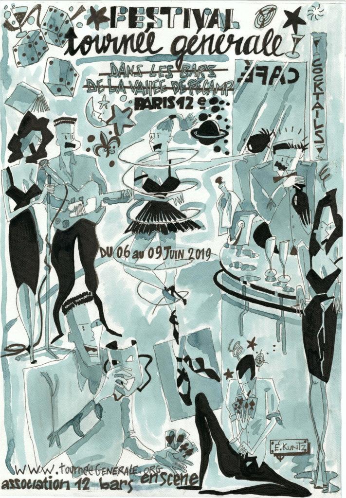 «Tournée générale» pour sa première édition propulse le spectacle vivant au sein même des bars de quartiers.