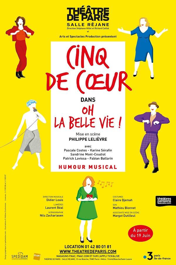 Le quintette vocal Cinq de Coeur conquiert le public du Théâtre de Paris