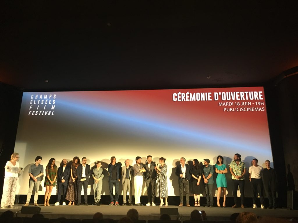 Benoît Forgeard et Corine en ouverture du Champs-Élysées Film Festival