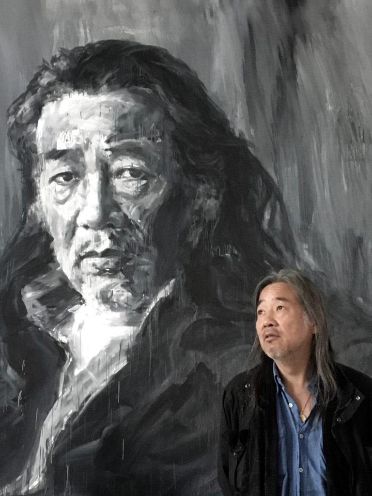 Yan Pei-Ming à Ornans : face à face, deux géants