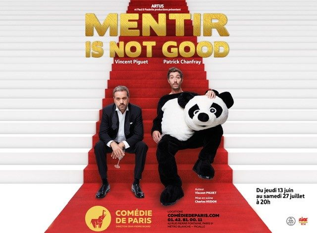 Gagnez 5×2 Invitations au spectacle«Mentir is not good»