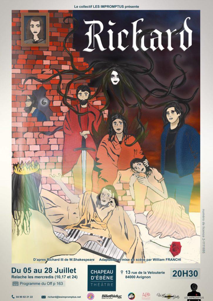 Avignon OFF 2019: «Richard», le classique de Shakespeare revisité par le Collectif Les Impromptus