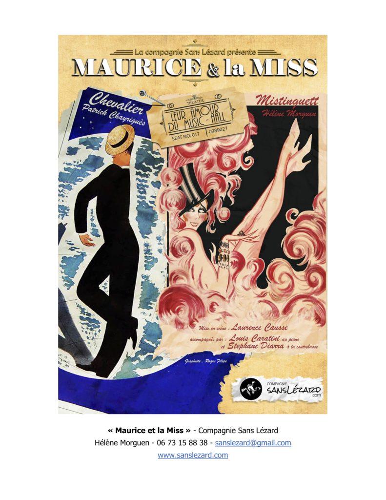 Avignon OFF 2019: «Maurice et la Miss», roi et reine de Paris et du music-hall