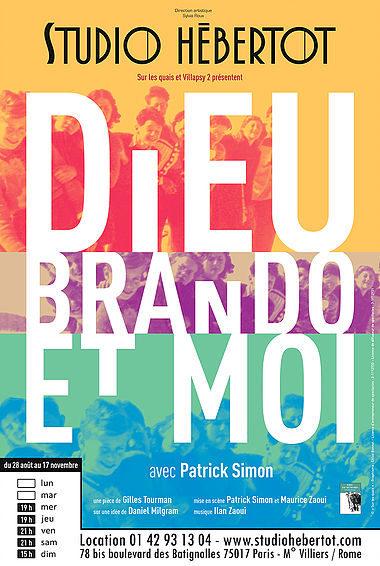 «Dieu Brando et moi» au Studio Hébertot, une poignante blague juive
