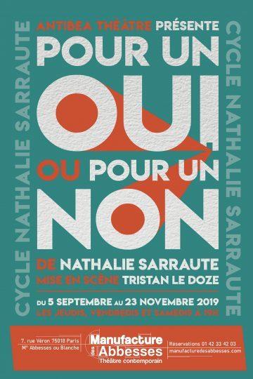 Magnétique «Pour un oui pour un non» de Nathalie Sarraute à la Manufacture des Abbesses