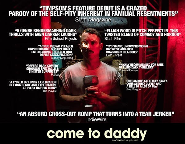 « Come to Daddy » : un Elijah Wood moustachu dans un film sanglant [critique]