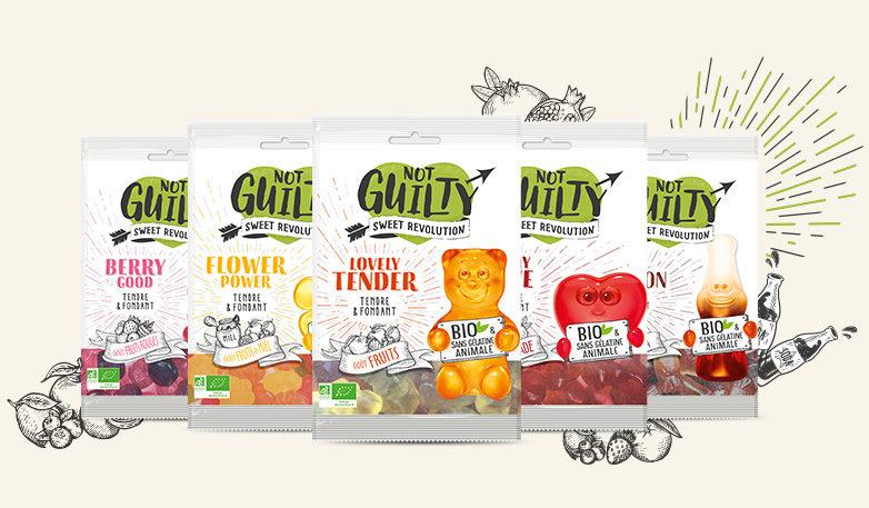 «Not Guilty»: des bonbons tout doux, vegan, sans additifs et sans gluten pour adoucir la rentrée