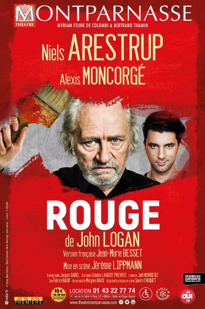Face à face musclé entre Niels Arestrup et Alexis Moncorgé dans Rouge de John LOGAN au Théâtre Montparnasse.