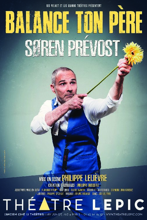 SörenPrévost tire son coup pour de faux au Théâtre Lepic.