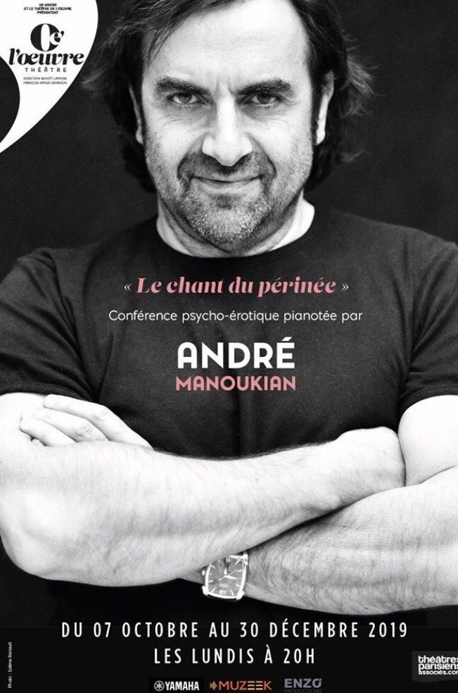 André Manoukian nous parle du Chant du périnée au Théâtre de l'Œuvre : des mots, des notes et beaucoup d'émotion!