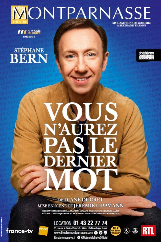 Stéphane Bern au Théâtre Montparnasse : Rire du trépas des grands