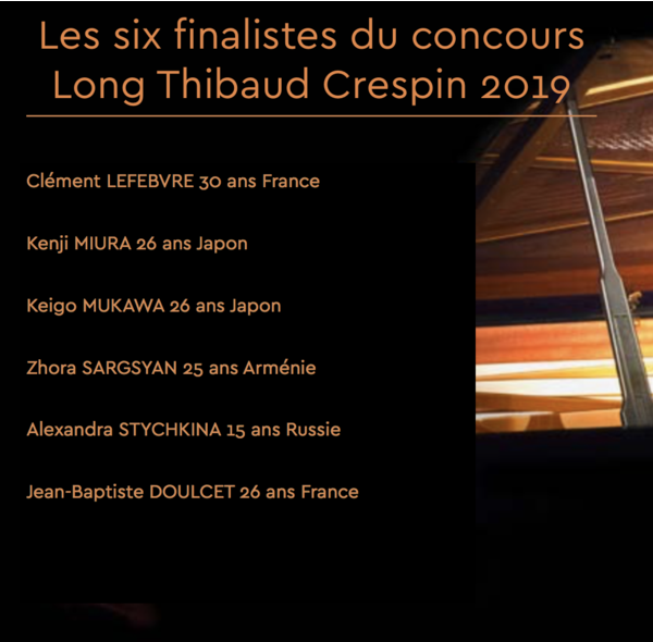 Concours Long-Thibaud-Crespin (piano) Palmarès
