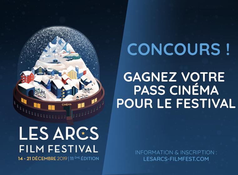 6 PASS À GAGNER POUR LES ARCS FILM FESTIVAL !