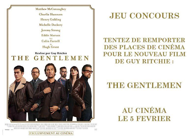 Gagnez 5×2 places pour le film THE GENTLEMEN au cinéma le 5 février