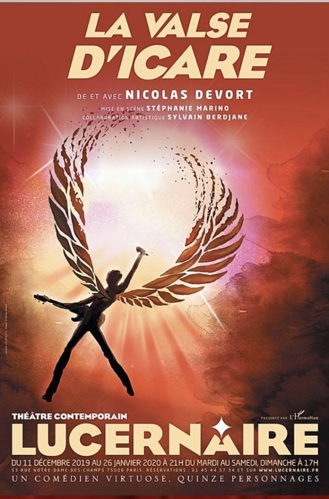 Courrez voir Nicolas Devort dans La valse d'Icare au Lucernaire !